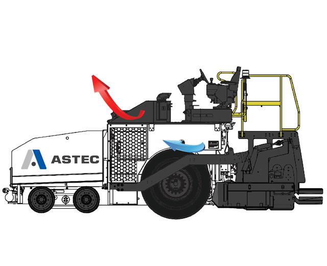 Roadtec Highway Class Asphalt Paver Fume Extraction System