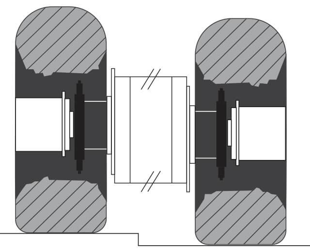 Roadtec RP-250 Highway Class Asphalt Paver Frame Raising Mechanism
