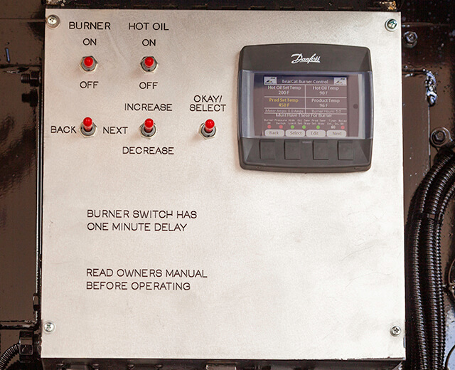 Roadtec SP-200 Spray Paver Hot Oil Heating System