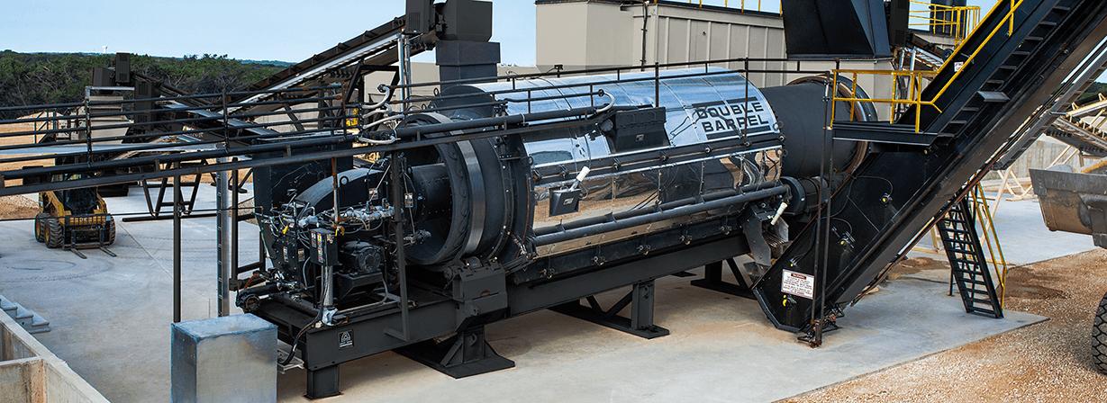 Astec Double Barrel Aggregate Dryer and Asphalt Mixer