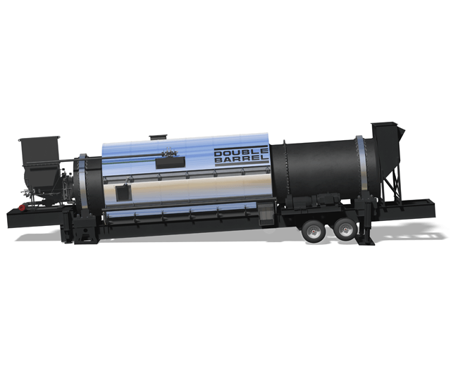 Astec Double Barrel Portable Drum for Aggregate Drying the Asphalt Mixing