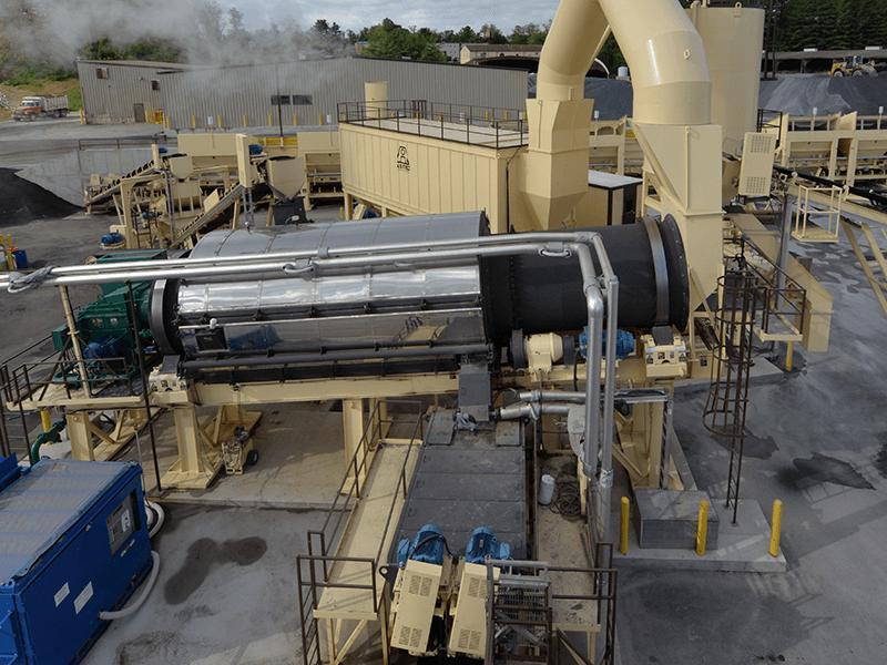 Astec Double Barrel X dryer with external mixer