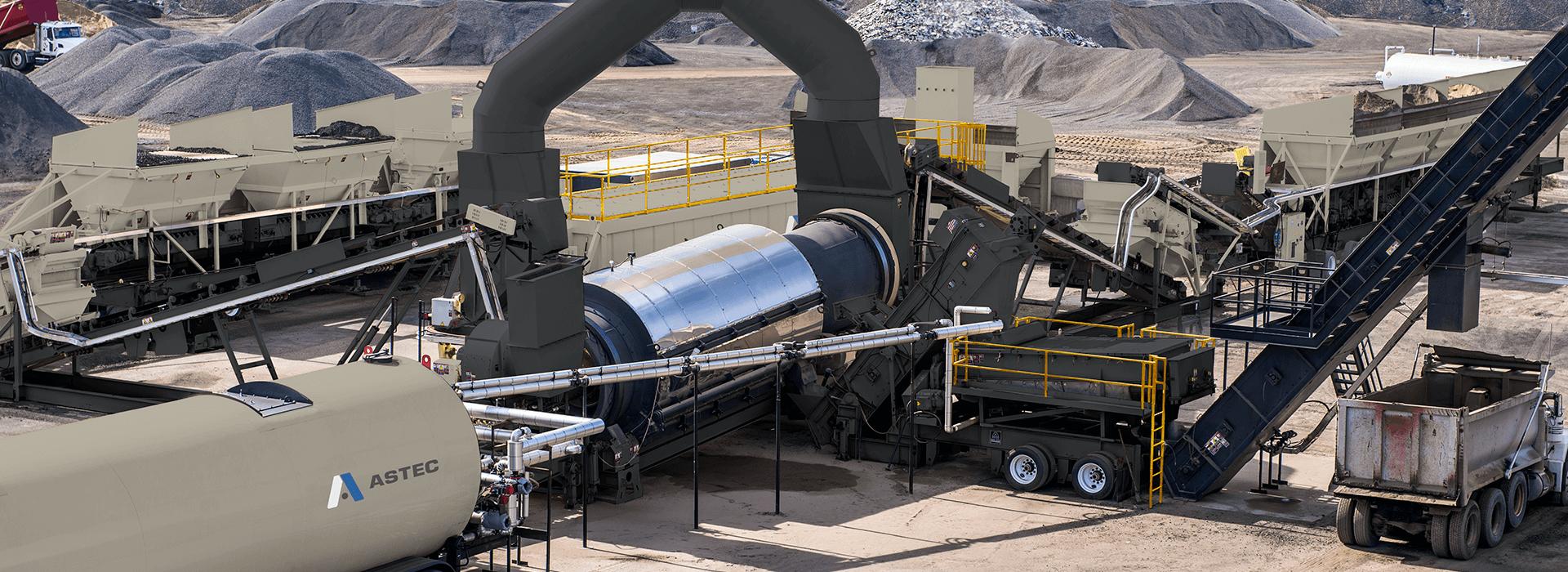 Astec Double Barrel X asphalt dryer with external mixer