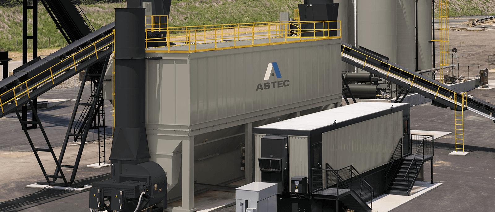 Astec pulse jet baghouse for asphalt plants
