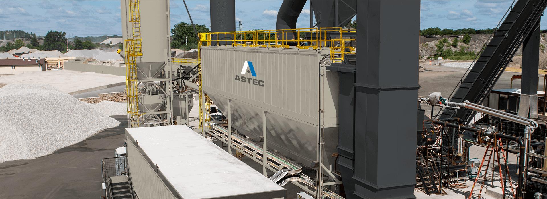 Astec reverse pulse baghouse for asphalt plants