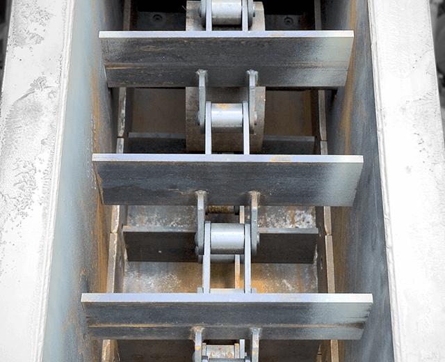 Astec roller chains for asphalt storage silo