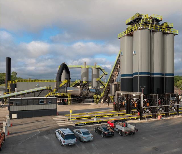 Astec short-term asphalt storage silos