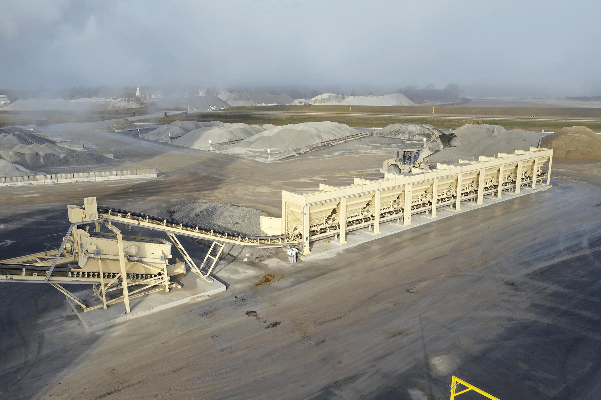 Astec Relocatable Asphalt Plant Cold Feed Bins