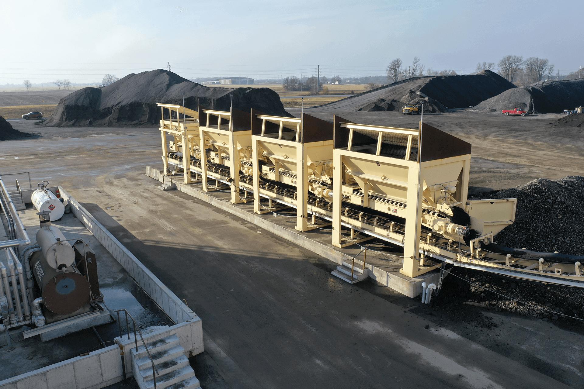 Astec Relocatable Asphalt Plant with Unidrum RAP Bins