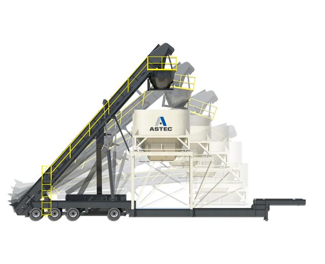Astec Portable self Eerecting asphalt surge bin