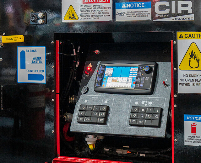 Roadtec Cold In-Place Recycling Additive System Controls