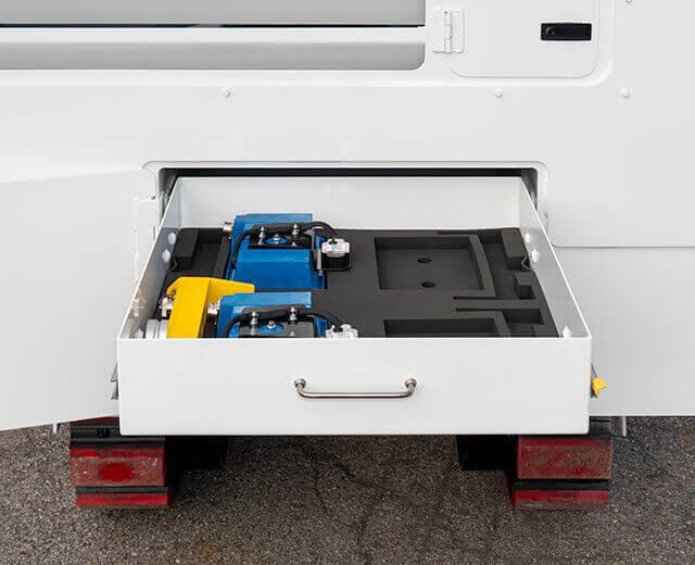 Roadtec RX-505 Cold Planer Convenient Storage
