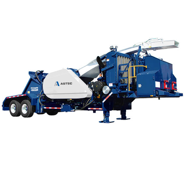 Peterson 4300B Drum Chipper with wheels