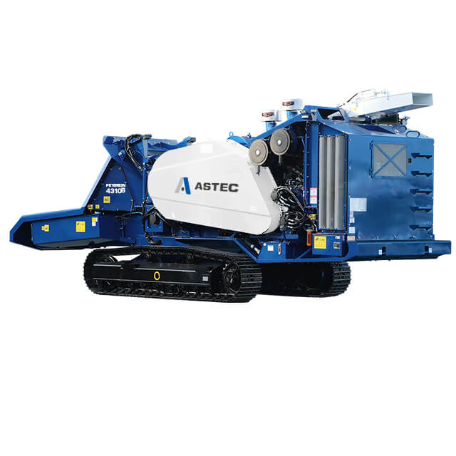 Peterson 4310B Drum Chipper with tracks