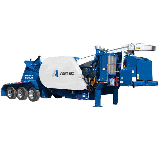 Peterson 6300B Drum Chipper with wheels