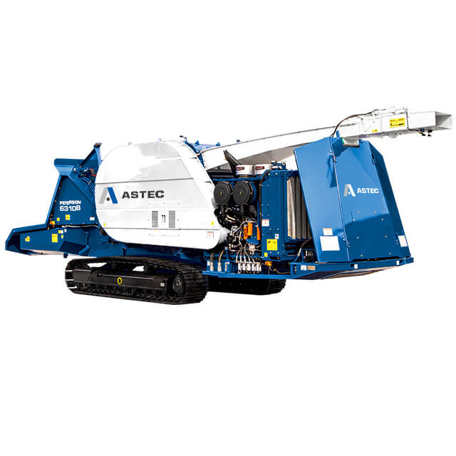 Peterson 6310B Drum Chipper with tracks