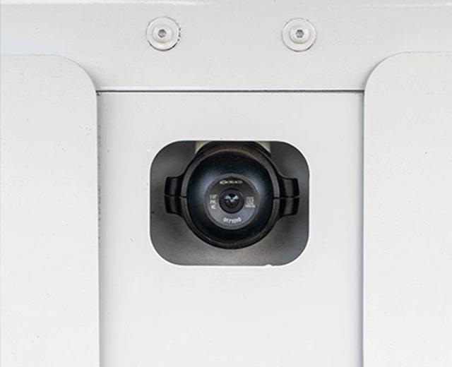 The Roadtec SB-3000 Shuttle Buggy Material Transfer Vehicle backup camera
