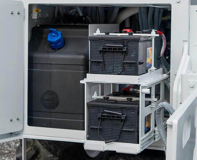 Roadtec SX-5 Stabilizer/Reclaimer Slide Out Battery Racks